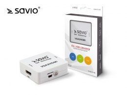 SAVIO CL-110 Konwerter/Adapter VGA -> HDMI Full HD/1080p 60Hz