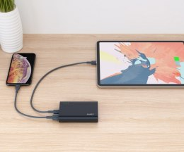 PB-XD12 Black ultraszybki Power Bank | 10000 mAh | 4xUSB | 9A | Quick Charge 3.0 | Power Delivery | kabel USB-C