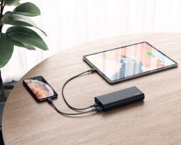PB-XD13 Black ultraszybki Power Bank | 20000 mAh | 4xUSB | 9A | Quick Charge 3.0 | Power Delivery | kabel USB-C